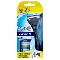 Станок для бритья Wilkinson Sword (Schick) HYDRO 5  Travel Edition + Пена для бритья