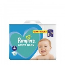 Підгузники дитячі Pampers Active Baby (4) Maxi  9-14 кг 90 шт. Giant pack (8001090950376)