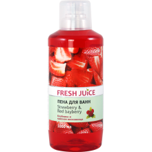 Піна для ванн Fresh Juice Strawberry & Red Bayberry 1000 мл (4823015936319)