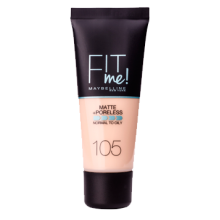 Maybelline тональный крем Fit Me Matte Poreless №105 Natural Ivory 30 мл (3600531324483)