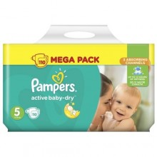 Подгузники Pampers Active Baby-Dry Размер 5 (Junior) 11-18 кг, 110 шт Mega Pack