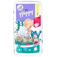 Підгузки дитячі Bella Baby Happy Junior Extra (6) 16+ кг 54 шт (5900516601157)