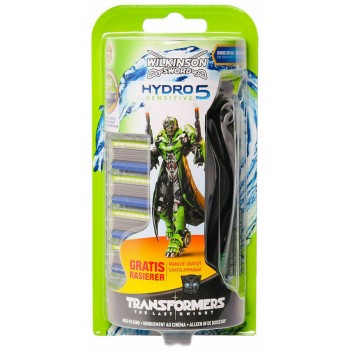 Сменные кассеты для бритья Wilkinson Sword (Schick) HYDRO 5 Sensitive Transformers 5 шт. + Бритва Wilkinson HYDRO 5 Sensitive  (4027800882557)
