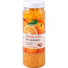 Соль для ванн Fresh Juice Orange & Guarana 700 г (4823015921612)