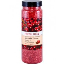 Бусинки Fresh Juice для ванны - Cherry & Pomegranate 450г (4823015925146)