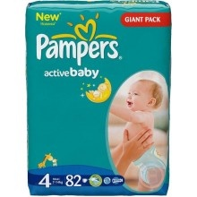 Підгузники дитячі Pampers Active Baby (4) Maxi  7-14 кг 82 шт. Giant pack (4015400265177)