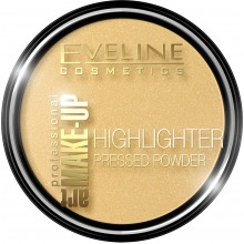 Компактная пудра для лица Eveline Highlighter Art Professional Make-up № 55 Golden (5901761944341)