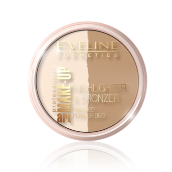 Компактная пудра для лица Eveline Highlighter & Bronzing Art Professional Make-up № 56 Glam Light (5901761940633)
