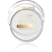 Компактная пудра для лица Eveline All Day Ideal Stay Matt Finish & Fix White (5901761936056)