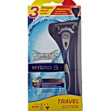 Станок для бритья Wilkinson Sword (Schick) HYDRO 5  Travel Edition + 3 сменные кассеты